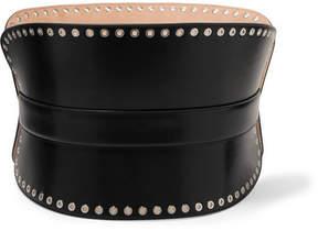 Alexander McQueen Eyelet-embellished Leather Waist Belt - Black