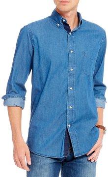 Daniel Cremieux Solid Denim Long-Sleeve Woven Shirt