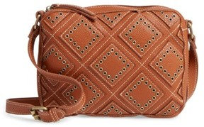 Shiraleah Skylar Faux Leather Crossbody Bag - Brown