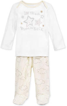 First Impressions 2-Pc. To The Moon Top & Footed Pants Set, Baby Boys & Girls (0-24 months), Created for Macy's