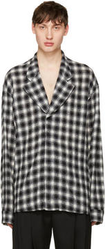 Haider Ackermann Black Check Blazer Shirt