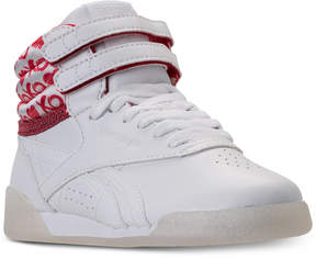 Reebok Big Girls' Freestyle High Top Hearts Casual Sneakers from Finish Line