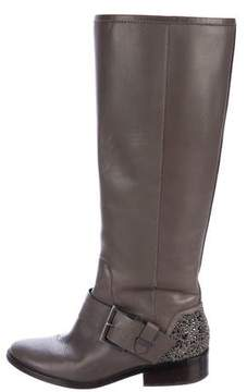 Brian Atwood Strass Knee-High Boots