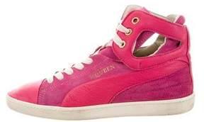 Alexander McQueen x Puma Bicolor High-Top Sneakers