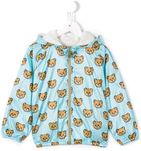 Moschino Kids teddy bear print jacket