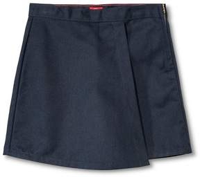 Dickies Little Girls' Faux Wrap Skort - Dark Navy