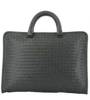 Bottega Veneta Grey Leather Handle Bag