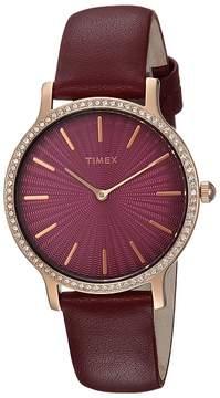 Timex Metropolitan Starlight Leather Strap Watches