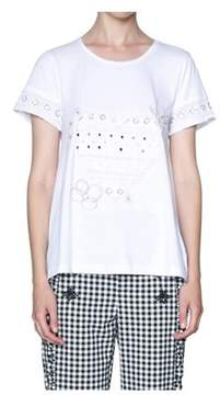 Desigual Women's White Cotton T-shirt.