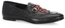 Gucci Brixton Snake Foldable Leather Loafers