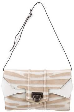 Reece Hudson Leather-Trimmed Ponyhair Shoulder Bag
