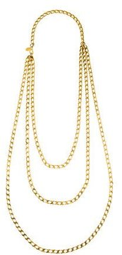 Erickson Beamon Multistrand Curb Chain Necklace