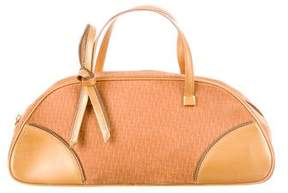 Christian Dior Leather-Trimmed Dome Bag