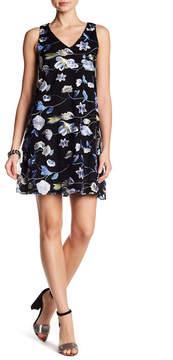 ECI Embroidered V-Neck Mesh Dress
