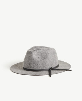 Ann Taylor Leather Tie Fedora