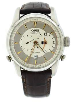 Oris Artelier Worldtimer 7581 Stainless Steel & Leather Automatic 41mm Mens Watch