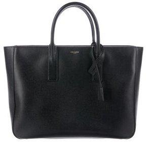 Saint Laurent Leather Museum Tote - BLACK - STYLE