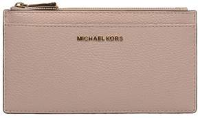 Michael Kors Soft Pink Money Pieces Hammered Leather Card Holder - PINK - STYLE