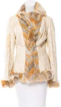 Christian Dior Fox Fur-Trimmed Jacket