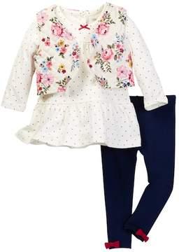 Little Me Rose 3-Piece Vest Set (Baby Girls)