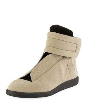 Maison Margiela Men's Future Lurex High-Top Sneakers