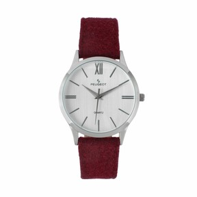 Peugeot Men's Wool & Leather Watch - 2058WN