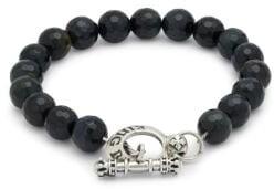 King Baby Studio Blue Tiger Eye & Sterling Silver Bracelet