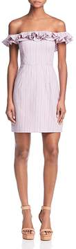 WAYF Gayle Striped Off-the-Shoulder Dress - 100% Exclusive