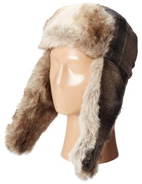 Woolrich Wool Aviator with Faux Fur Lining and Earflaps Caps
