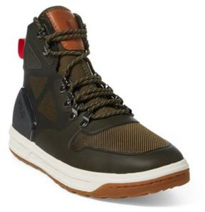 Ralph Lauren Alpine 200 Mesh Sneaker Military Green 12