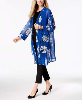 Alfani Printed Sheer Kimono Jacket, Created For Macy's