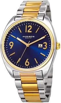 Akribos XXIV Blue Dial Two Tone Men's Watch