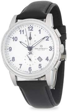 Bruno Magli Men's Chronograph Leather-Strap Watch