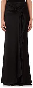 Alberta Ferretti Women's Silk Satin Sarong-Draped Skirt