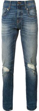R 13 distressed skinny jeans
