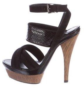 Barbara Bui Snakeskin Platform Sandals