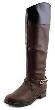 Qupid Turner-16 Women Round Toe Synthetic Knee High Boot