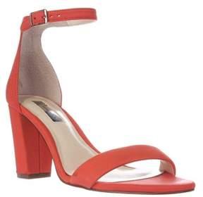INC International Concepts I35 Kivah Ankle Strap Dress Sandals, Rumba Orange.