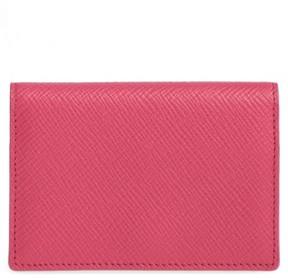Smythson 'Panama' Card Case - Pink