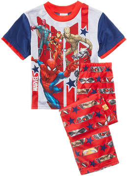 Marvel Marvel's 2-Pc. Hero Mania Pajama Set, Little Boys & Big Boys