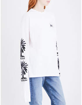 Aries Palm Arms cotton-jersey top