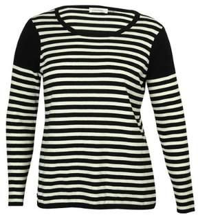 Calvin Klein Women's Striped Sweater (S, Black/Birch)