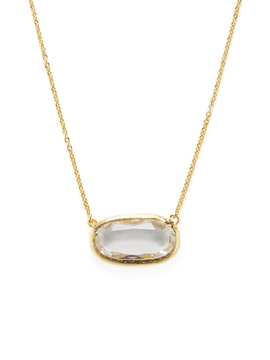 Rivka Friedman Women's Faceted Rock Crystal Oval Station Necklace