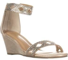 Thalia Sodi Ts35-addis Ankle Strap Wedge Sandals, Champagne.