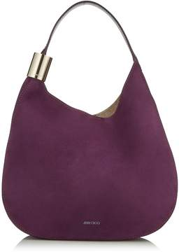 Jimmy Choo STEVIE Grape Suede and Elaphe Shoulder Bag
