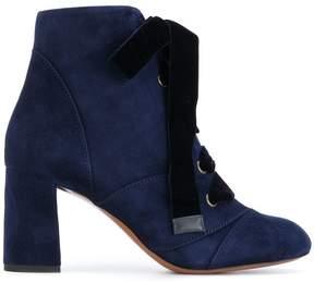 Chloé Velvet laced booties