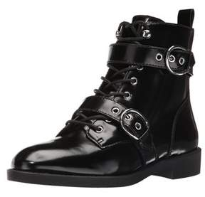 Marc Jacobs Taylor Lace-up Patent Leather Ankle Boot.