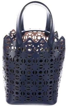 Alaia Leather Laser-Cut Bucket Bag