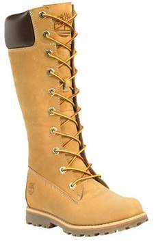 Timberland Girls' Asphalt Trail Classic Tall Lace-Up with Side Zip