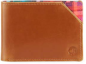 Robert Graham Brighton Slim Fold Plaid Leather Wallet